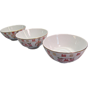 Oriental Serving  Bowls for Rice Porcelain