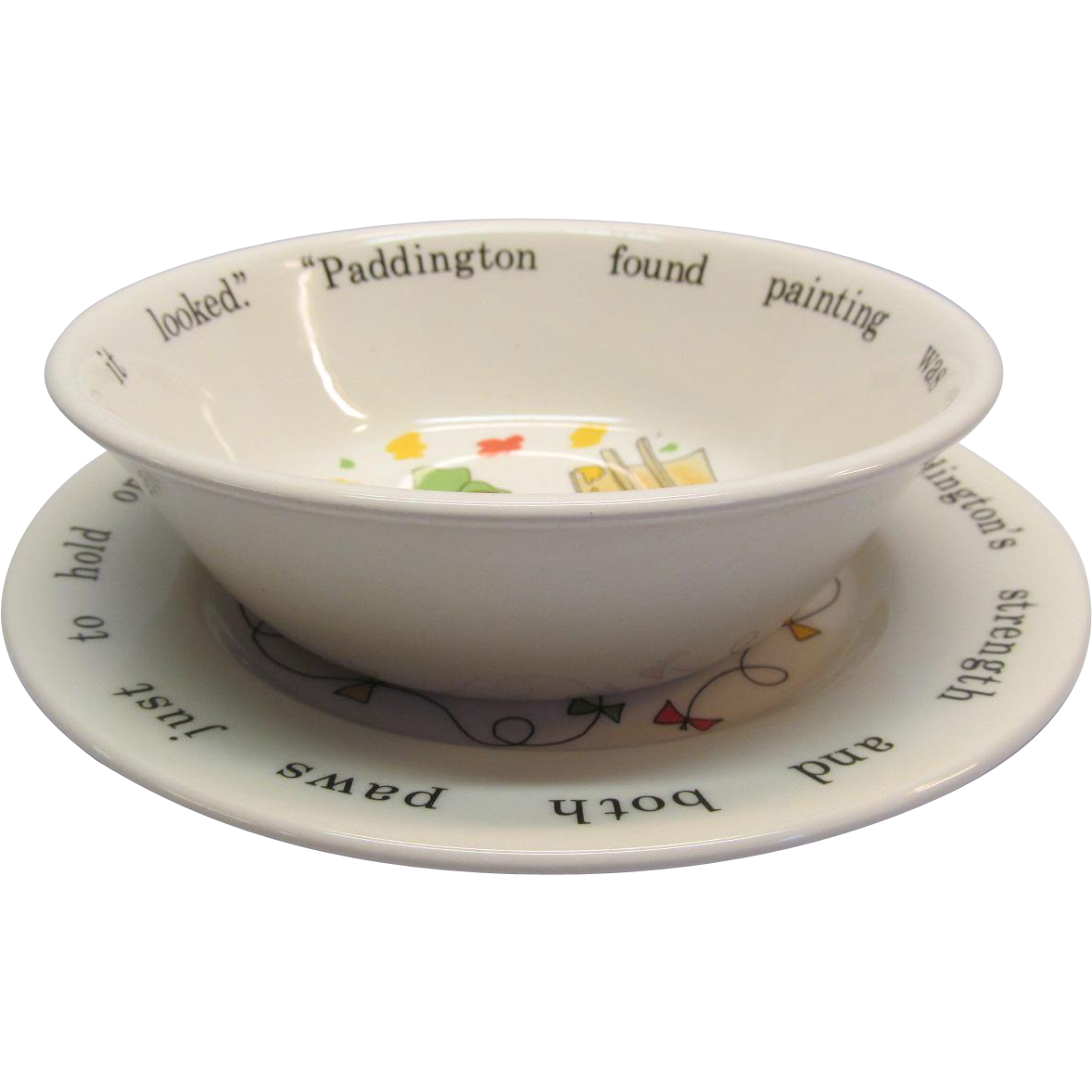 Paddington Bear Bowl and Plate Coalport Made In England
