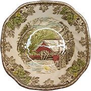 The Friendly Village Porcelain Soup or Salad Bowl By Johnson Brothers