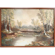 Oil On Canvas Modern Impressionism Landscape Wilderness Scene
