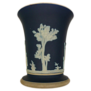 Dark Blue Jasper Ware Vase Wedgwood Made In England