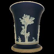 Dark Blue Jasper Ware Vase Wedgwood Made In England - Red Tag Sale Item