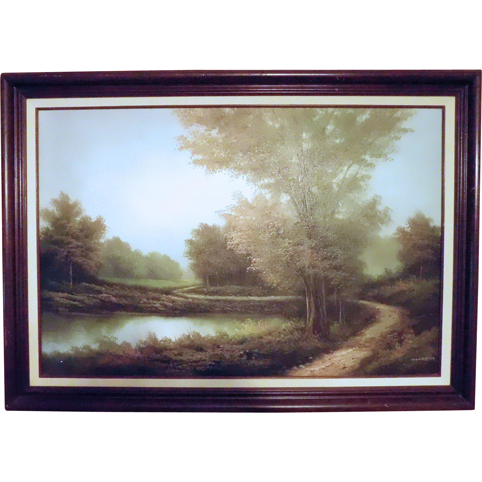 Oil Painting Signed Spencer