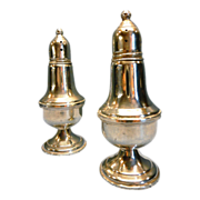 Sterling Empire Salt and Pepper Shakers