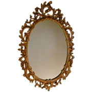 Syroco Wood Composite Mirror With Ornate Scroll
