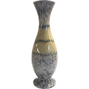 Pottery Vase, Yellow and Gray Speckle, Germany