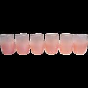 Juice Glasses (4) West Virginia Blendo Peach Color