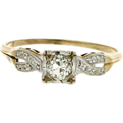 Vintage 1940's 14K Diamond Engagement Ring