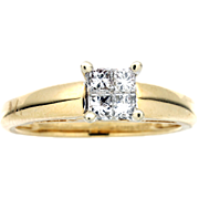 Modern Estate 14K Princess Cut Diamond Engagement Ring