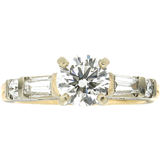Modern Estate 14K Diamond Engagement Ring