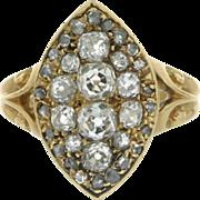 Victorian 18K Yellow Gold Diamond Ring