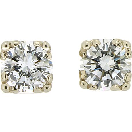 Vintage Diamond Stud Earrings 86