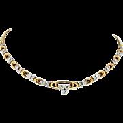 Modern Estate 14K & Diamond Necklace