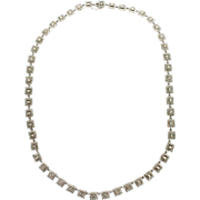 Modern Estate 18K Diamond Necklace