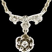 Vintage 14K Diamond Necklace