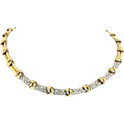 Modern Estate 14K & Diamond Collar Necklace