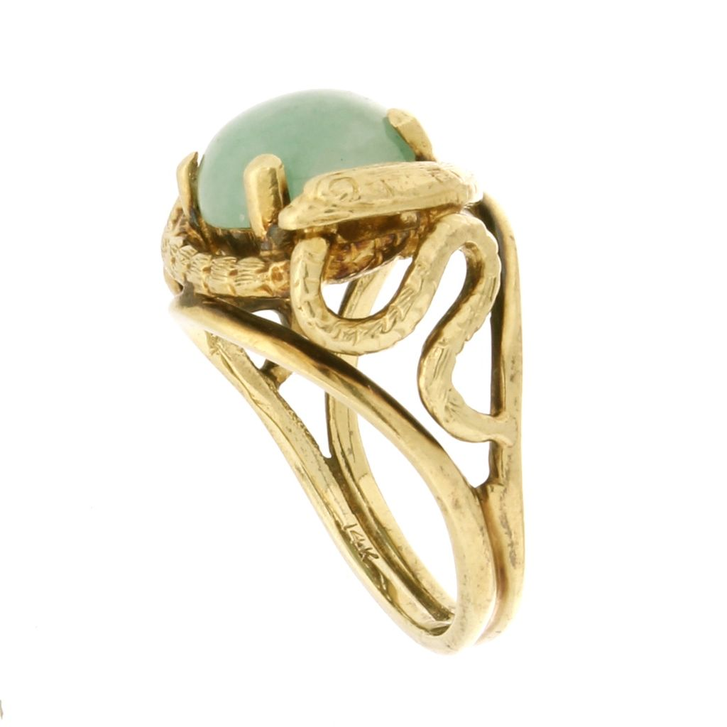 14k Yellow Gold Fashion Ring With Snake Design From