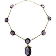 Victorian 18K Yellow Gold Necklace &  Amethyst Necklace