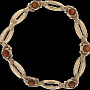 Vintage 10K & Citrine Bracelet
