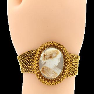 Vintage 14K Cameo Bracelet