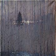 Spring forest original oil painting by Russian artist Vladimir Shmitko