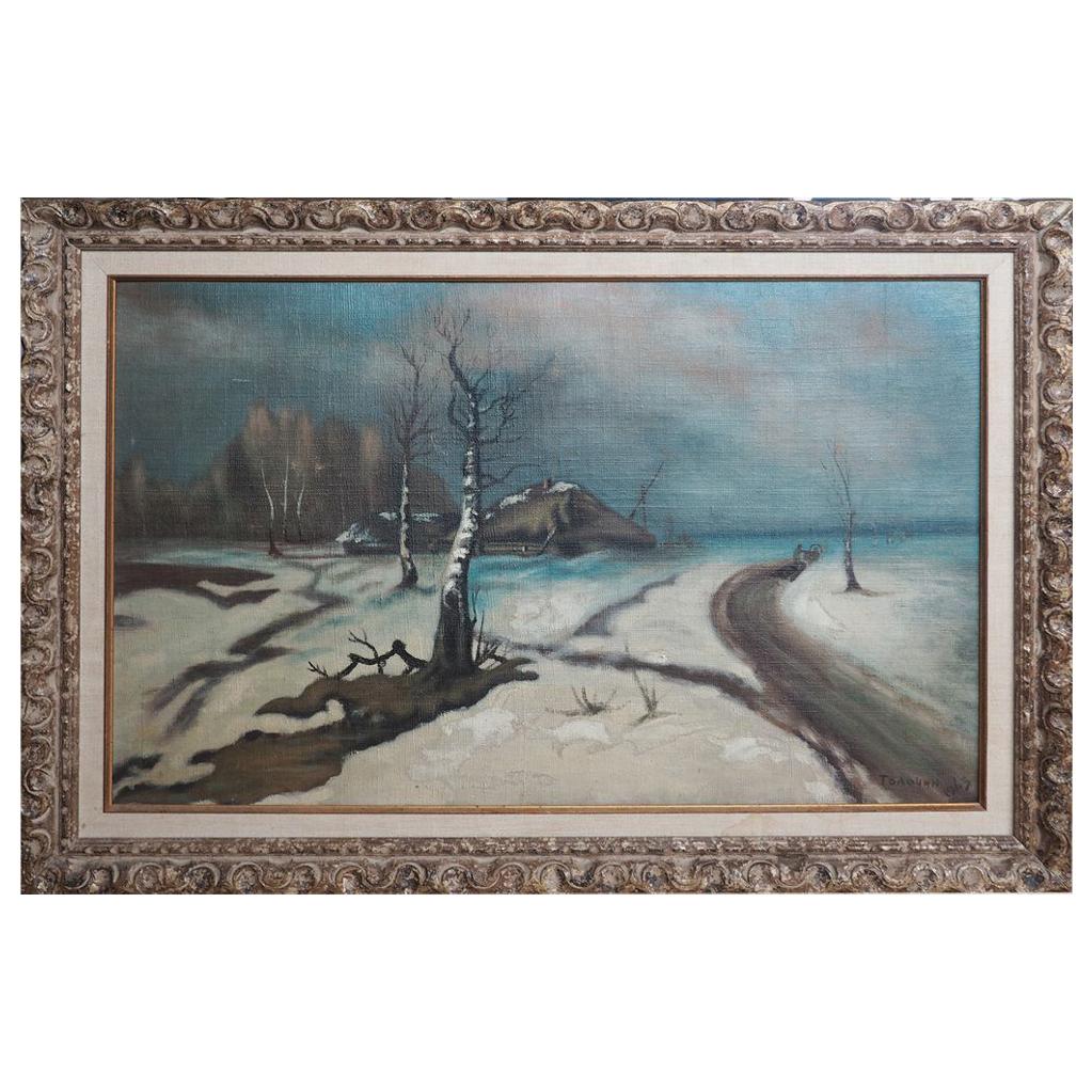 Tolochin Talashyn Belarus Belarussia landscape oil painting Russia