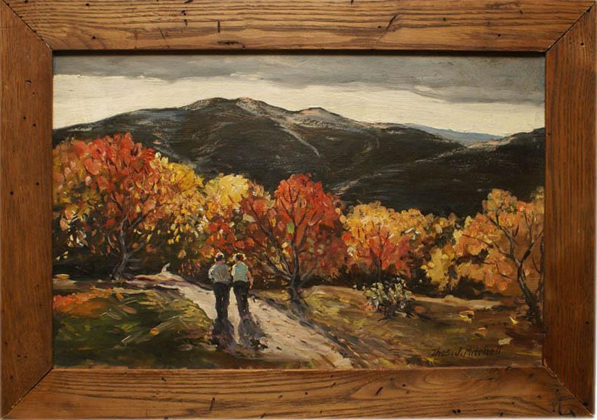 Modern autumn landscape oil painting by Thomas John Mitchell
