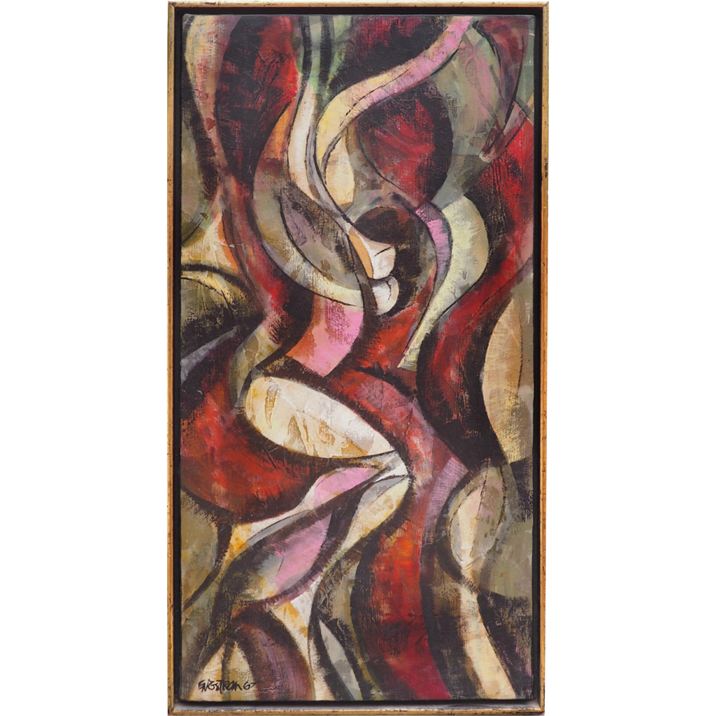 Nude figure abstract modern vintage oil painting by Magnus Engstrom
