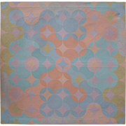 Original vintage mid century modern geometric abstract painting by P. Krebs