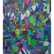 Original expressive colorful abstract painting by Vermont artist Lois Foley