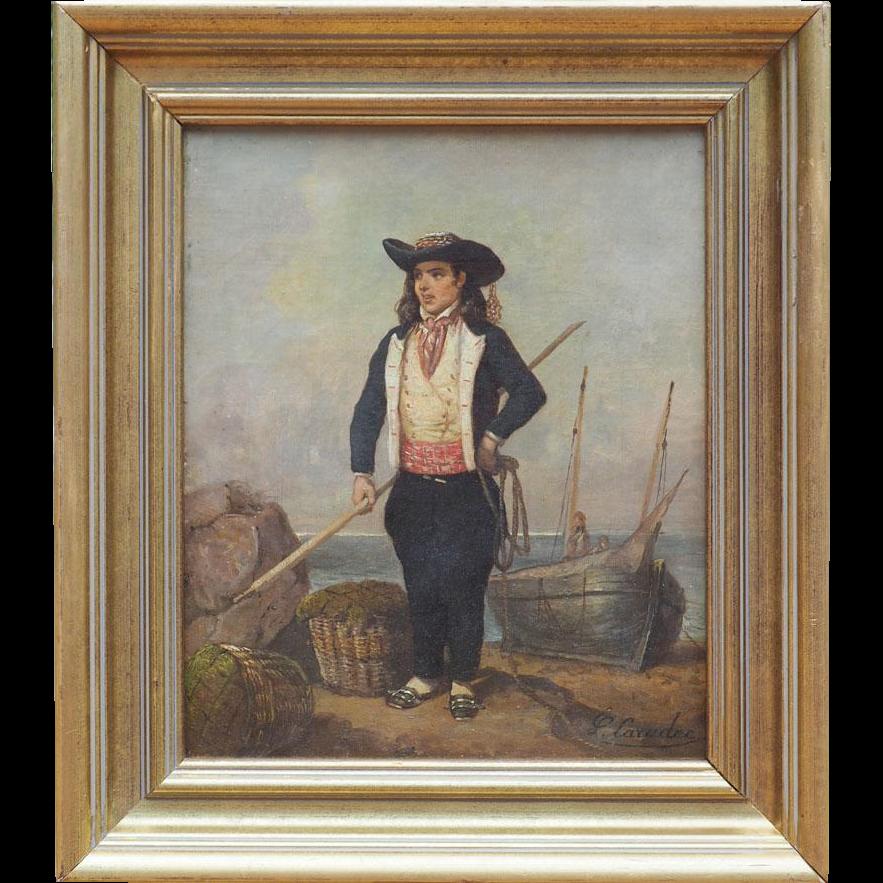 Lovely Early 1900s Antique Gilt Framed Oil Portrait