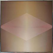 Abstract geometry modern vintage minimalist painting by Peter Mack