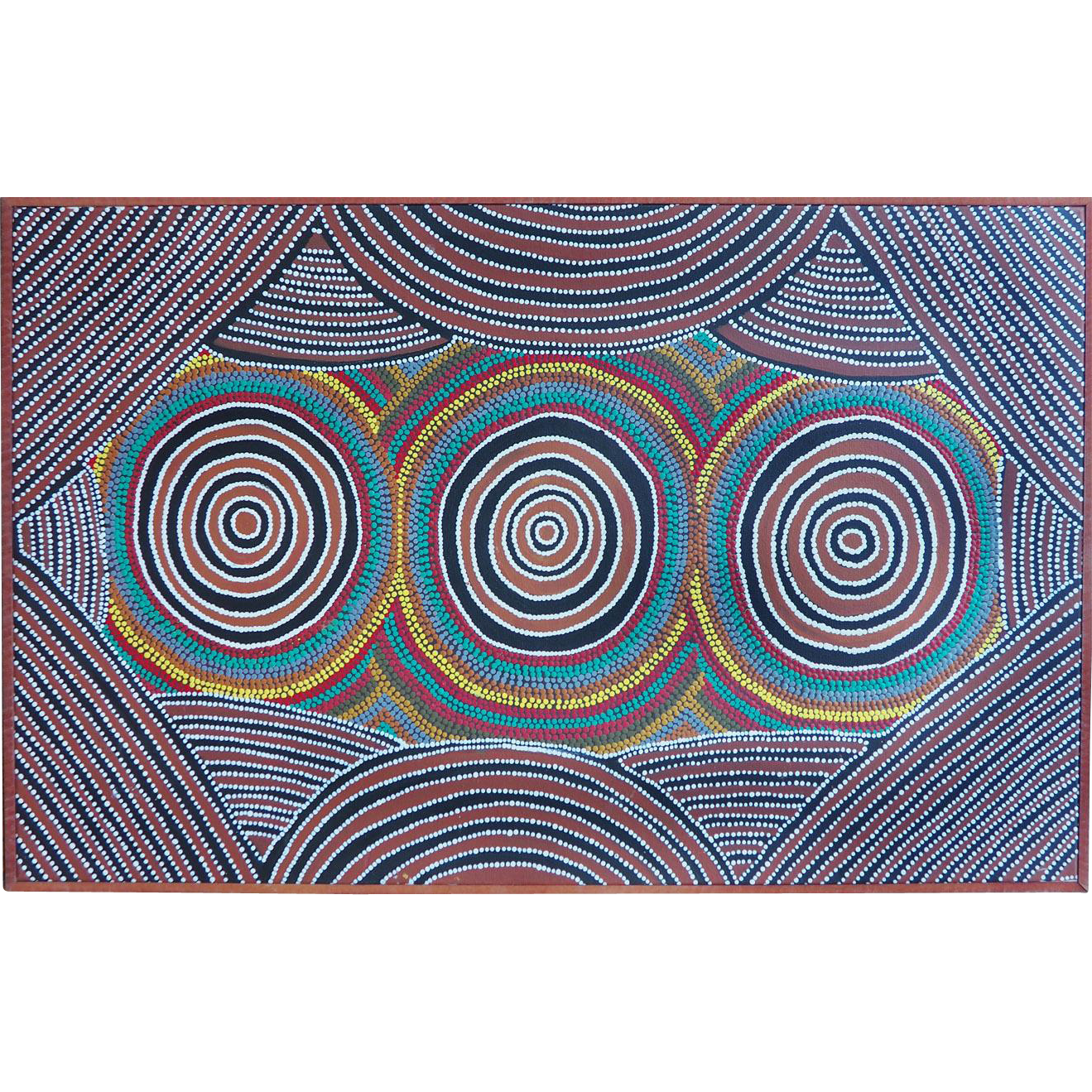 Bush Plum Ceremony original abstract aboriginal painting by Henry Dixon Petyarre Australia