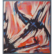 Original vintage abstract expressionist painting by Barnhart ?