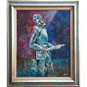 Old knight surreal vintage oil painting by Dan Wuthrich