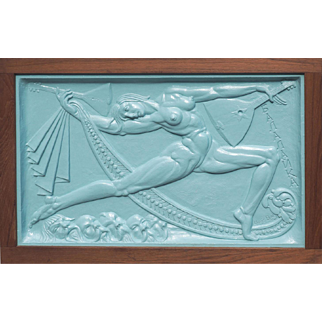 Isidora Duncan dancer balalaika Russian relief sculpture by Boris Blai