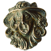 Large Art Nouveau Sterling Brooch - Circa 1900