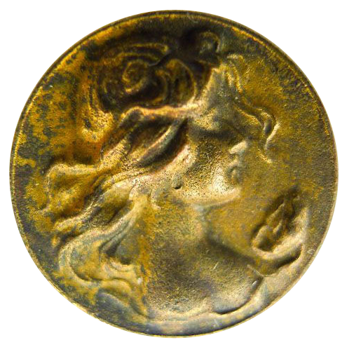 Small Gold Filled Antique Art Nouveau Brooch - Pin - Circa 1900