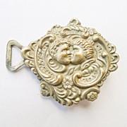 Antique Silver Plated Brass Art Nouveau/Victorian  Belt Buckle - Circa 1900
