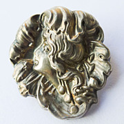 Antique Sterling Silver Top Art Nouveau Brooch - Circa 1900
