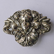 Antique Unger Bros Sterling Silver Art Nouveau Brooch - Circa 1900