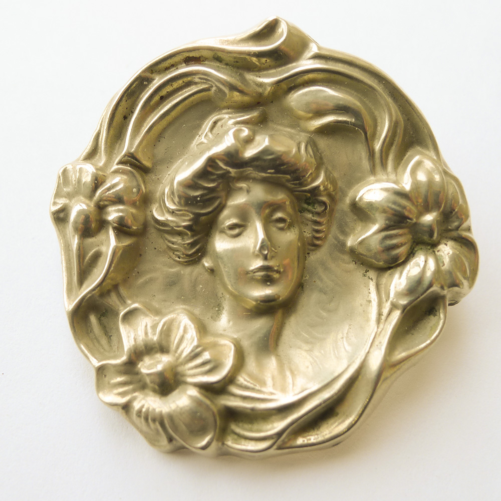 Large Art Nouveau Brooch - Antique Circa 1900