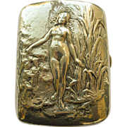 Case/Box Nude Woman - Gorham Antique Sterling Silver Art Nouveau  - Circa 1900