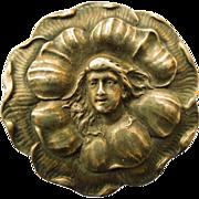 Antique Art Nouveau Silver Top Brooch - Circa 1900