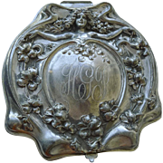 Jewelry Box Silver Plated Antique Art Nouveau Jewelry Box - Dated 1905
