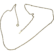 "Vintage 14kt Gold Filled Neck Chain - 17"" - Circa 1940"