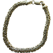 """Rope Bracelet - Sterling Silver Vintage - Magnificent - 8"""""""