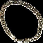 Vintage Bracelet Sterling Silver .925 Fancy Marina Italian Link - 8.25''