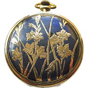 Pocket Watch - Antique Art Nouveau Niello Enamel Lohengrin 18kt & Sterling Silver Pocket Watch Circa 1899