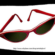 RAY BAN Vintage Cats Eye Sunglasses Early 1950s
